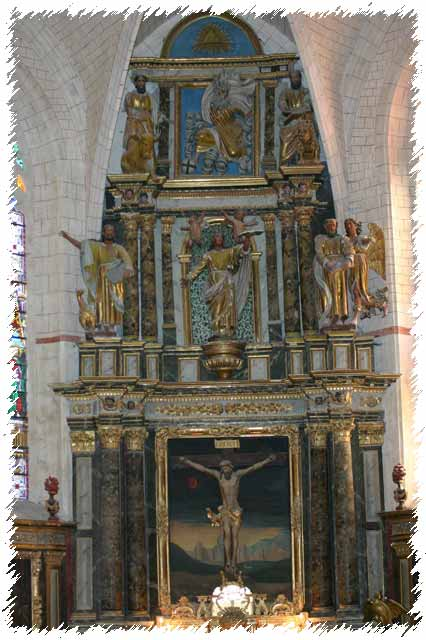 photo du retable de l'église Saint-girons de Monein